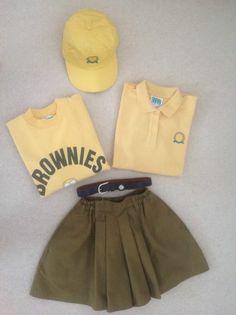 Brownies Vintage/Retro Uniform, Baseball Cap and Leather Belt