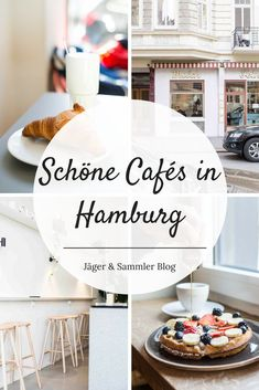 Tips for beautiful cafes in Hamburg, where you get delicious breakfast, fresh coffee and cake. Breakfast Desayunos, City Hunter, Fresh Coffee, Foodie Travel, A Food, Canning, About Me Blog, Easy, Beautiful