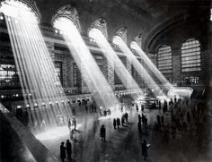 Grand Central Terminal in the 1920's before tall buildings blocked out the light.