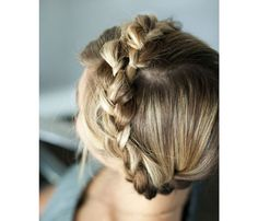 'Dos for a Rainy Day: The Braided Crown. Great for girls with long hair, this Heidi-inspired style keeps everything off your neck and away from your face. Simply twist up two pigtails and pin in place. #SELFmagazine