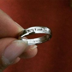 Engraved platinum band for a client today. http://ift.tt/1O0XOO6 #platinum #ring #india #love #valentines #jewelleryoftheday #jewelove