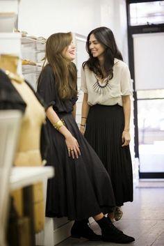 Midi skirt style.