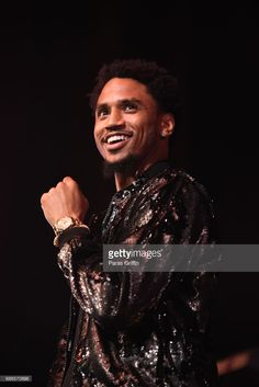 Singer Trey Songz performs in concert during 'Tremaine The Tour' at The Tabernacle on May 21, 2017 in Atlanta, Georgia.
