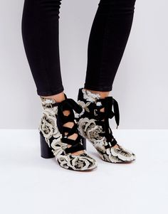 ASOS ETHELINE Lace Up Ankle Boots - Multi