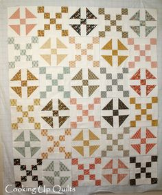 Love the nine patch blocks alternating with another block Basic Grey Persimmon Shoo Fly and Nine Patch Blocks