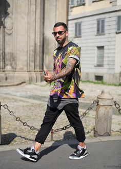 Streetstyle Milan Mens fashion Week ...urban sports luxe cool at its best!