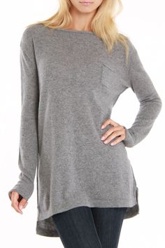 Seina Tunic < Looks so soft and comfy. Perfect for a rainy day at home.