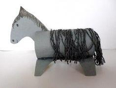 Weihnachtskrippen/basteln-Krippenfiguren-Esel