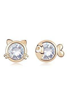 Cat + Fish Earrings - super cute!