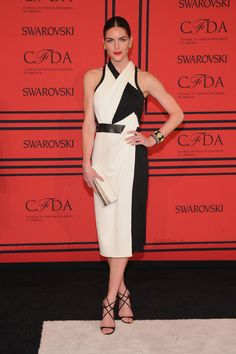 Best dressed at 2013 CFDA Fashion Awards - Hilary Rhoda in Helmut Lang