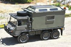 Pinzgauer, One of my all time favorites. Ambulance version, turn to a Expedition Vehicle Source Expedition Trailer, Expedition Vehicle, Off Road Camping, Camping Gear, 4x4 Trucks, Offroad, Small Camper Trailers, Campers, Bug Out Vehicle