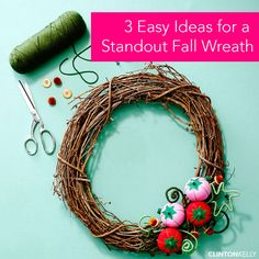 DIY this EASY wreath to put your home into the fall spirit!