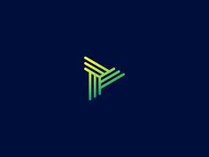 II designed by Sean Ford. Ci Design, Best Logo Design, Logos, Logo Branding, Plane Design, Triangle Logo, Geometric Logo, Letterhead, Letter Logo
