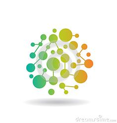 Color Circles Network Logo for Business