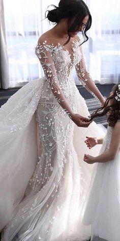 Long Sleeve Bridal Dresses, Long Wedding Dresses, Long Sleeve Wedding, Illusion Wedding Dresses, Mermaid Wedding Gowns, Elegant Wedding Gowns, Luxury Wedding Dress, Mermaid Gown, Mermaid Dresses