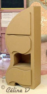 Cardboard Corner units Recycle Cardboard Box, Cardboard Furniture, Cardboard Crafts, Corner Unit, Coin, Recycling, Boxes, Construction, Shelves