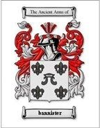 Bannister Coat of Arms Bannister Family Crest History Print