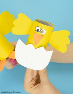 Easter Chick Paper Roll Craft for Kids