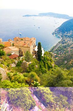 "Enjoy sweeping Mediterranean views in this town on the French Riviera, described as an ""eagle's nest"" because it's perched so high up on a cliff. The city is centuries-old, with the first building in the village dating back to the early 1300s."