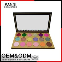 New 2017 makeup OEM eyeshadow palette 18 colors private label glitter eyeshadow with fashion eyeshadow packaging #glittereyeshadows