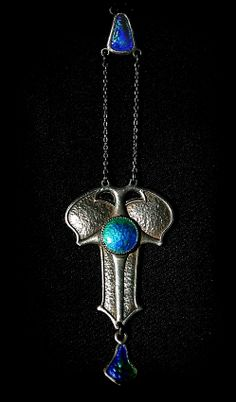 art nouveau pendant             2     1        Art Nouveau pendant silver and enamel. Charles Horner of Halifax
