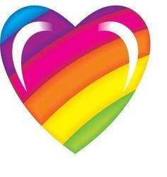 heart, lisa frank, and rainbow image