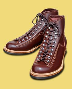 Sugar Cane's  Lone Wolf Collection  Carpenter Boots  Brown Leather