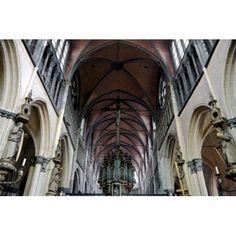 Onze Lieve Vrouwekerk Bruges Belgium Canvas Art - Susan Pease DanitaDelimont (36 x 24)
