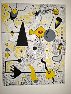Joan Miró (April 1893 – December was a Spanish painter, sculptor, and ceramicist born in Barcelona. Spanish Painters, Spanish Artists, Time Painting, Painting For Kids, Joan Miro Pinturas, Miro Artist, Joan Miro Paintings, Art Corner, Art Moderne