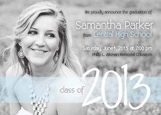 Modern Senior Graduation Invitation 2013 by SimplyLoveLeeDesigns, $15.00