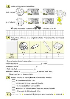 Clasa I : Matematică şi explorarea mediului. Clasa I. Partea II - (E2) School Lessons, Kids Education, Homeschool, Classroom, Map, Words, Early Education, Class Room, Location Map