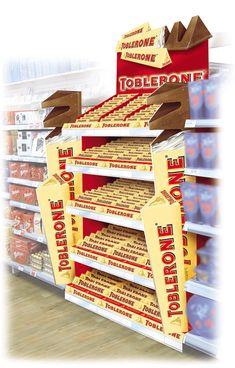 Point of Purchase Design | POP Design | Confectionary POP | Kraft - Toblerone Gondola Run Hot Spot