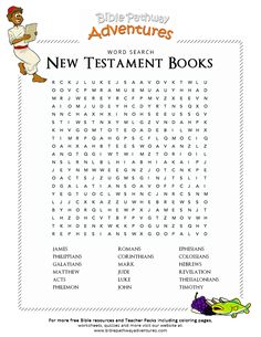 The bible 594756694510944992 - Enjoy our free Bible Word Search: New Testament Books. Fun for kids to print and learn more about the Bible. Feel free to share with others, too! Source by Bible Activities For Kids, Bible Games, Bible Study For Kids, Bible Lessons For Kids, Kids Bible, Bible Trivia, Church Activities, Sunday School Kids, Sunday School Activities