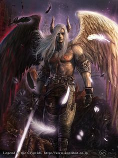 Kalei in his Fallen Angelic form in Hell...