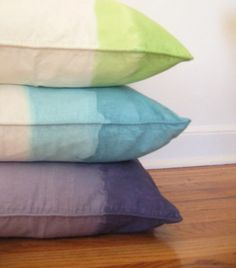 DIY dip-dye pillows
