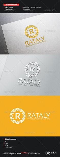 Rataly Logo Template — Vector EPS #s #badge • Available here → https://graphicriver.net/item/rataly-logo-template/7136148?ref=pxcr