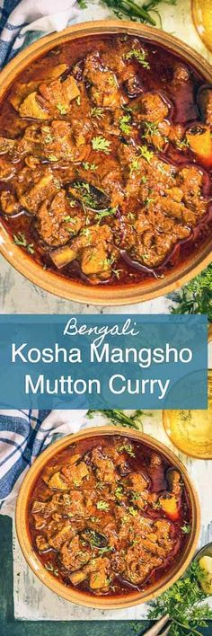 Mangsho Bengali Kosha Mangsho Recipe is a delicious spicy Bengali Mutton Curry which is full of flavours from mutton, spices and mustard oil. Indian I Bengali I Mutton I curry I Traditional Authentic I Easy I Simple I quick I perfect I Lamb Recipes, Veg Recipes, Spicy Recipes, Curry Recipes, Indian Food Recipes, Asian Recipes, Chicken Recipes, Cooking Recipes, Lamb Dishes