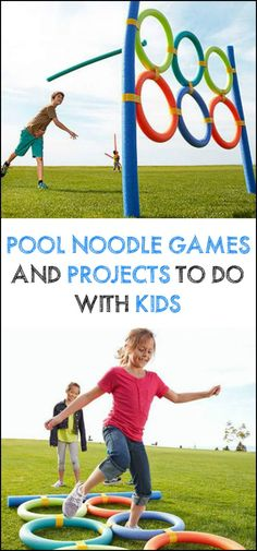These pool noodle games and projects are sure to bring fun for the kids!
