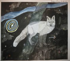 Canis Minor constellation drawing