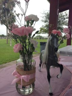 Shabby Chic pony party Birthday Party Ideas | Photo 11 of 27 | Catch My Party