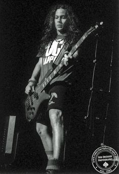 Mike Starr: November 1992 at the Concert Hall in Toronto, Ontario Photo credit: Rod Orchard Happy Birthday Mike, Mike Inez, Mike Starr, Jerry Cantrell, Mad Season, Layne Staley, Alice In Chains, Concert Hall, Photo Credit