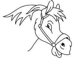 Kleurplaat: Paard van Sint