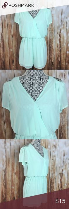 Charlotte Russe Mint Romper New no tags Charlotte Russe Other