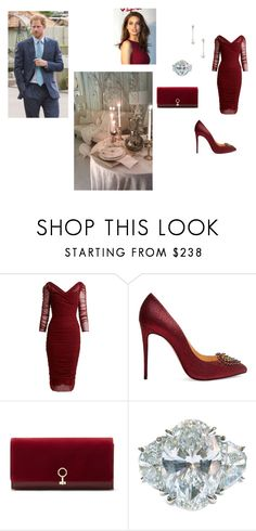 """""""Late Valentine's Day"""" by sofia-carafa-warwick ❤ liked on Polyvore featuring Dolce&Gabbana, Christian Louboutin, Louise et Cie, Belpearl and Chelsea Flower"""
