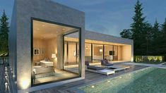 Neutral, modern concrete meets a minimalist aesthetic. Modern Exterior, Exterior Design, Casas Containers, House Goals, Minimalist Home, Modern House Design, Future House, Luxury Homes, Beautiful Homes