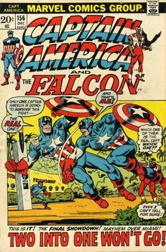 Lot Detail - Captain America Captain America and The Falcon Marvel Comics (Featuring Jack Kirby, Gil Kane and Sal Buscema Cover/Art; Gerry Conway, Steve Englehart and Stan Lee Stories) Captain America Comic Books, Captain America Shield, Marvel Comic Books, Comic Book Characters, Comic Book Heroes, Comic Character, Comic Books Art, Comic Art, Marvel Characters