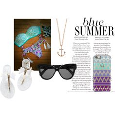 Summer blue by ana-beatriz-sousa on Polyvore featuring moda, Minor Obsessions and Linda Farrow