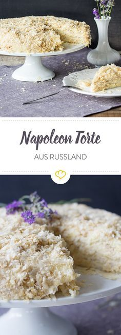 Traditionelle Napoleon Torte: Das Original aus Russland In Russia, this cake is one of the most popular desserts. No wonder – several layers of fluffy puff pastry and delicious buttercream make them simply irresistible. Vanilla Recipes, Custard Recipes, Baking Recipes, Cake Recipes, Dessert Recipes, Napoleon Torte, Napoleon Dessert, British Desserts, Unique Recipes