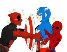 SpideyPool and Captain Marvel Jokes, Marvel Funny, Marvel Heroes, Funny Comics, Marvel Avengers, Spideypool, Superfamily Avengers, Deadpool X Spiderman, Hulk
