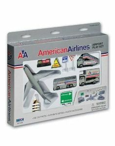 Amazon.com: American Airlines Die-Cast Airport Play Set: Toys & Games